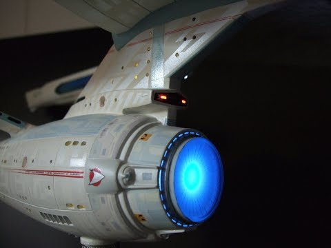 STAR TREK USS ENTERPRISE NCC-1701-A Pro built and lighted, not polar lights