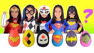 Play-Doh DC Superhero Girls SURPRISE EGGS Opening