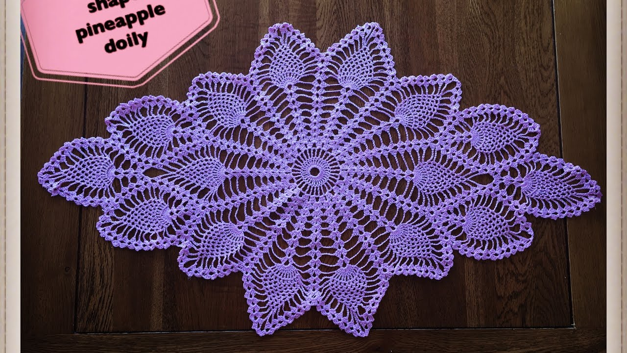 How To Crochet Diamond Shape Pineapple Doily Part 1 Of 2 Youtube