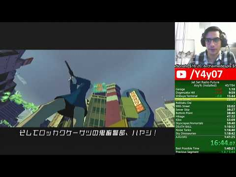 [WR][1:41:17] Jet Set Radio Future Any% World Record Speedrun
