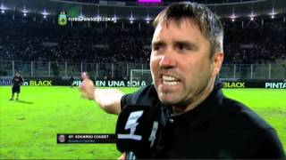 "Coudet: ""Nos robaron la final"". Central 0 - Boca 2. Final. Copa Argentina 2015. FPT."