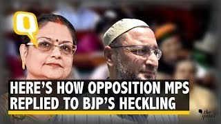 Owaisi's Allahu Akbar TMC's Jai Maa Kali How MPs Replied to BJP The Quint