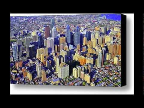 Philadelphia Skyline Aerial Photography Tour Pennsylvania 2011