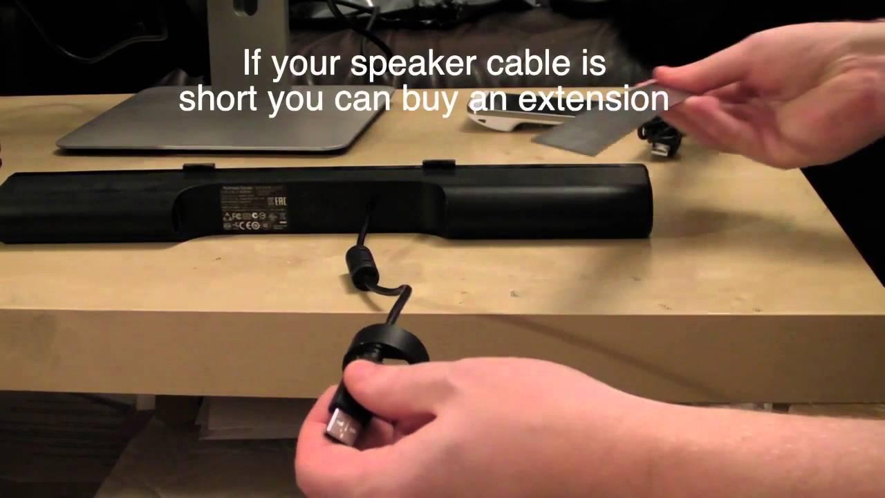NEW Genuine Dell Monitor SoundBar SPEAKER AC511 USB Powered Wired 0MN008 PC test