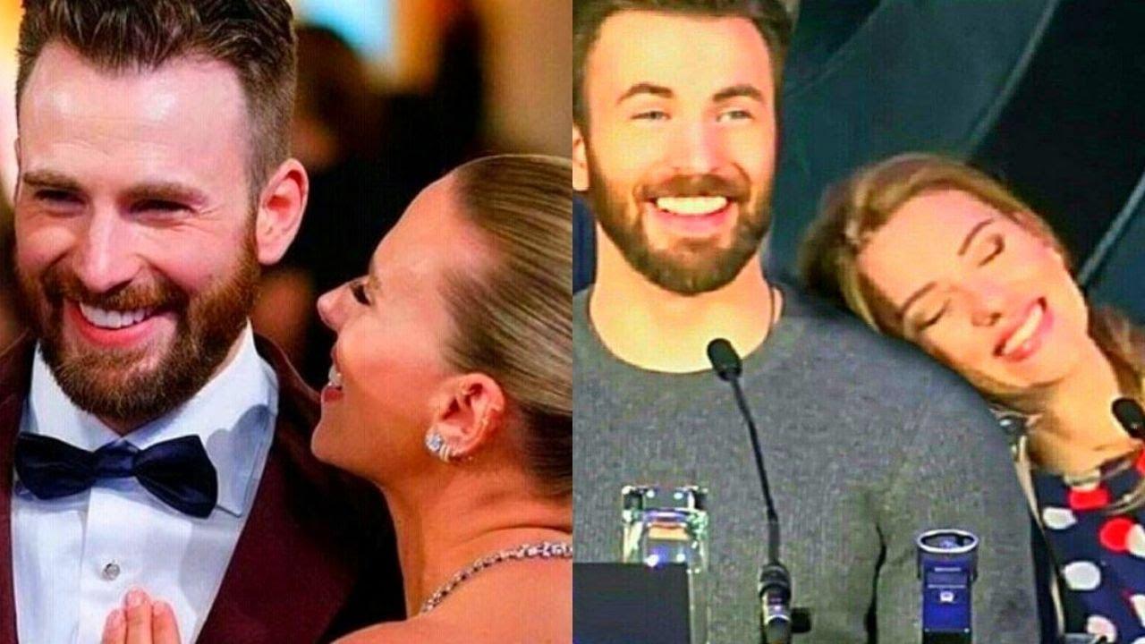 Chris Evans and Scarlett Johansson cute moments - YouTube