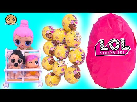 Giant LOL Surprise Egg - Color Changing Lil Baby Sisters Haul