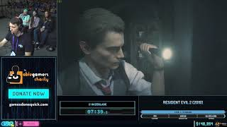 Resident Evil 2 (2019) by Hazeblade in 58:17 - GDQx 2019