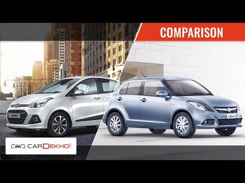 Comparison Video- 2015 Maruti Suzuki Swift Dzire Vs Hyundai Xcent | CarDekho.com