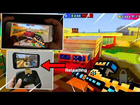 Pro Mobile Player Use's Hand Cam.. (SUPER FAST) - Pixel Gun 3D