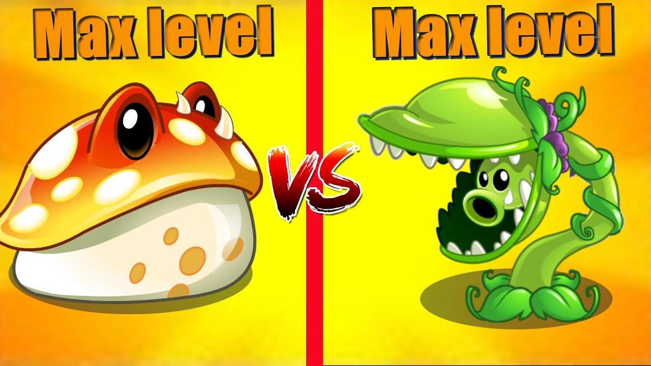 PVZ 2 - Toadstool vs Snap-Pea [Max Level Plants]