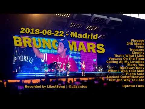 Cover Lagu Bruno Mars - 2018-06-22 Madrid - Full Concert STAFABAND