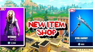 Streamer React To NEW NIGHTHARE Skin and Steel Carrot picaxe *Fortnite item Shop*