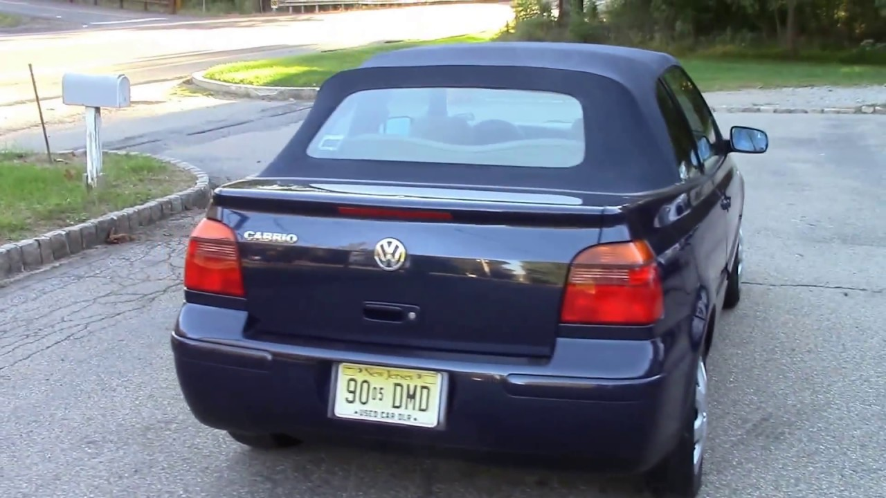 2001 Vw Cabrio Convertible Blue For