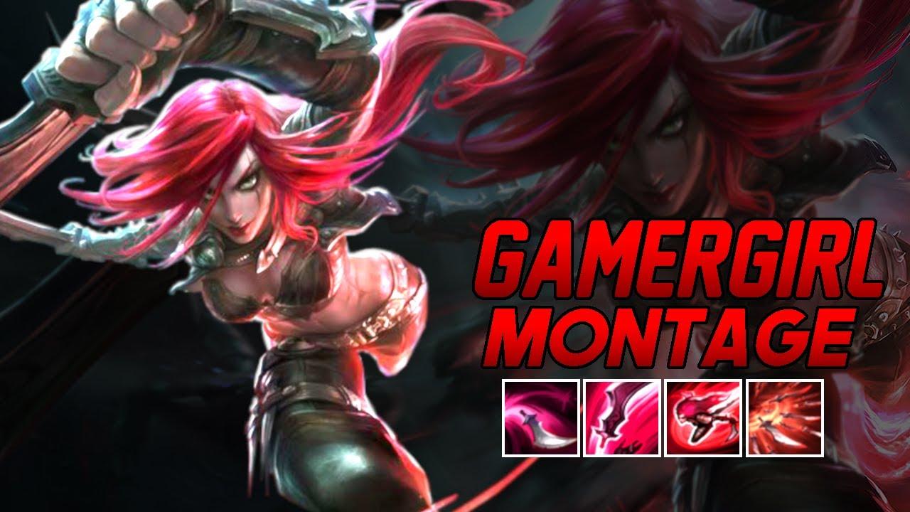 "GamerGirl ""Katarina Main"" Montage | Best Katarina Plays"