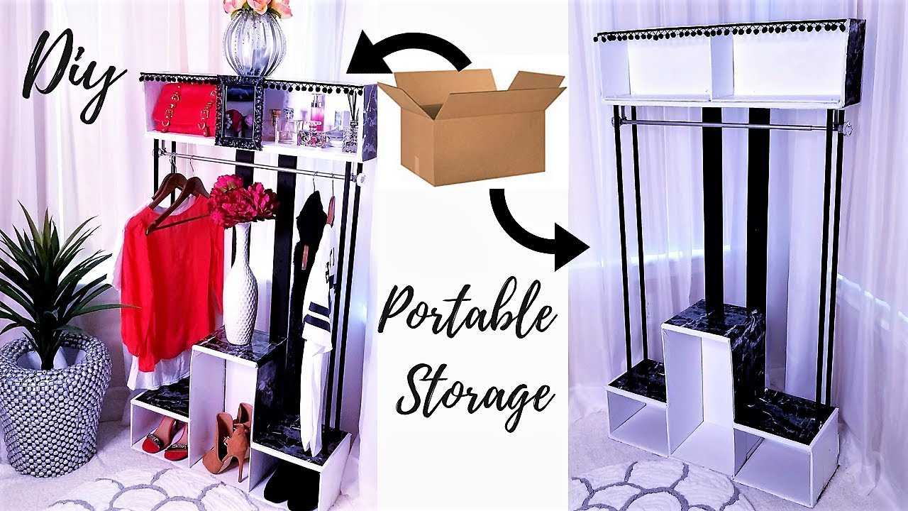 Diy Portable Closet For Small Spaces Inexpensive Storage Ideas 2019 Youtube