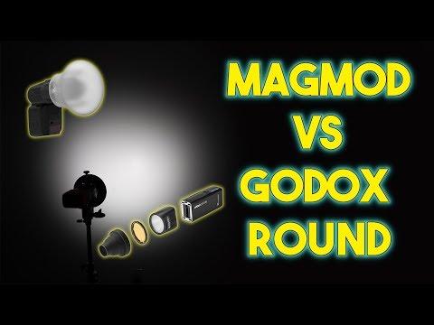 Godox AD200 Round Head vs  Magmod with Fresnel Head - Flash Modifier Comparison