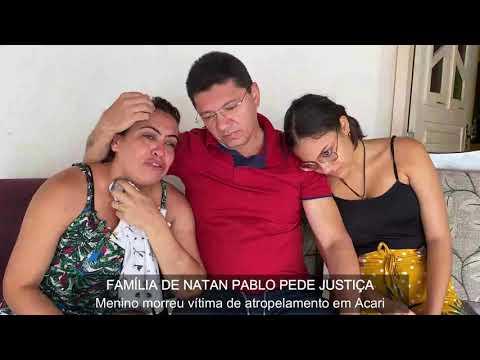 """""""Meu mundo caiu"""", diz mãe de Natan Pablo atropelado em Acar"""