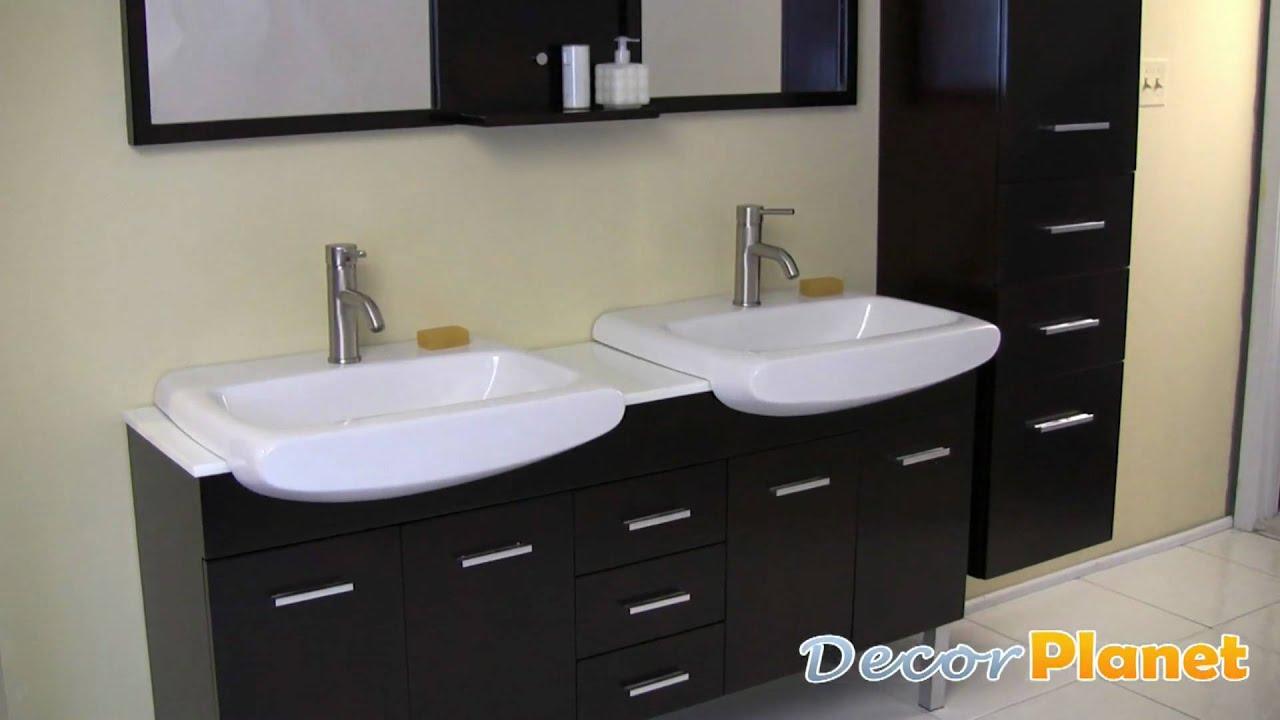 Vetta double sink bathroom vanity contemporary vanities for Decorplanet bathroom vanities