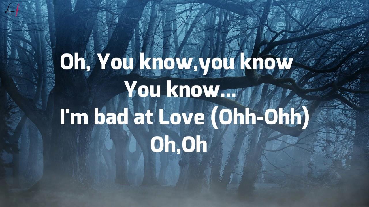 Download Halsey - Bad At Love (Lyrics)