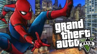 GTA 5 Mods - SPIDERMAN MOD w/ NEW ABILITIES (GTA 5 PC Mods Gameplay)