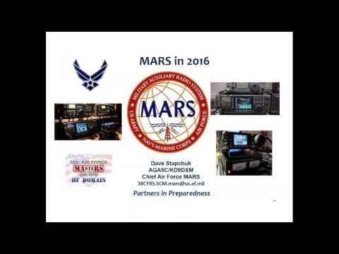 ARRL Webinar: An Overview of MARS - October 25, 2016