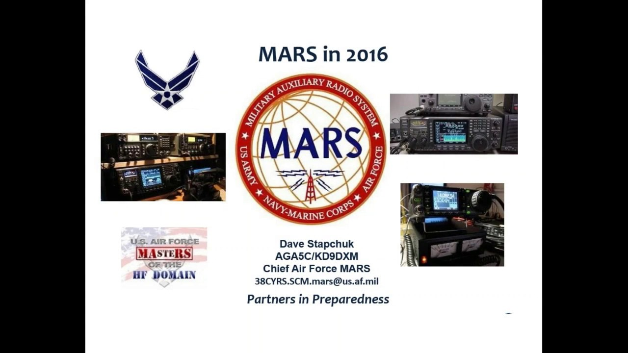 ARRL Webinar: An Overview of MARS - October 25, 2016