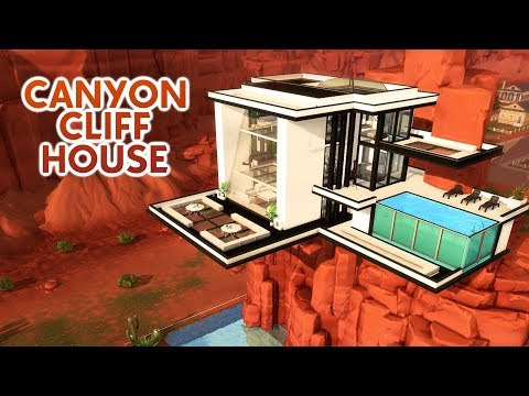 CANYON CLIFF HOUSE | Sims 4 Speed Build