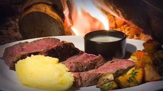 Recette : côte de bœuf d'Aubrac grillée au feu de bois