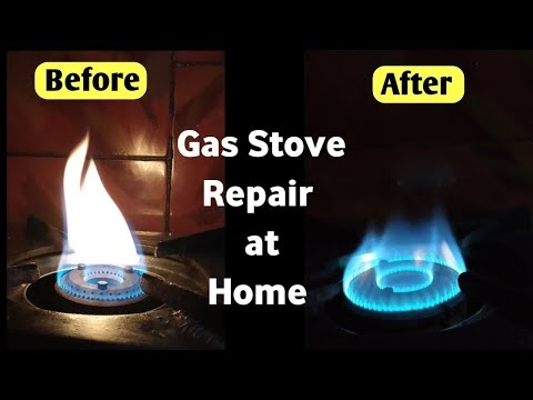 How to Clean, Repair and Service Gas Stove Burner at home | Gas oven