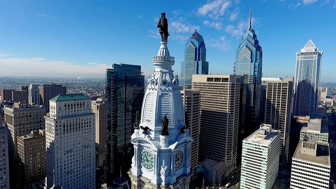 Philadelphia City Hall Aerial View By Charles Smith Dji