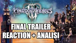 "🔴 Kingdom Hearts III (3) ""FINAL BATTLE TRAILER"" REACT + ANALISI - NO LEAK"
