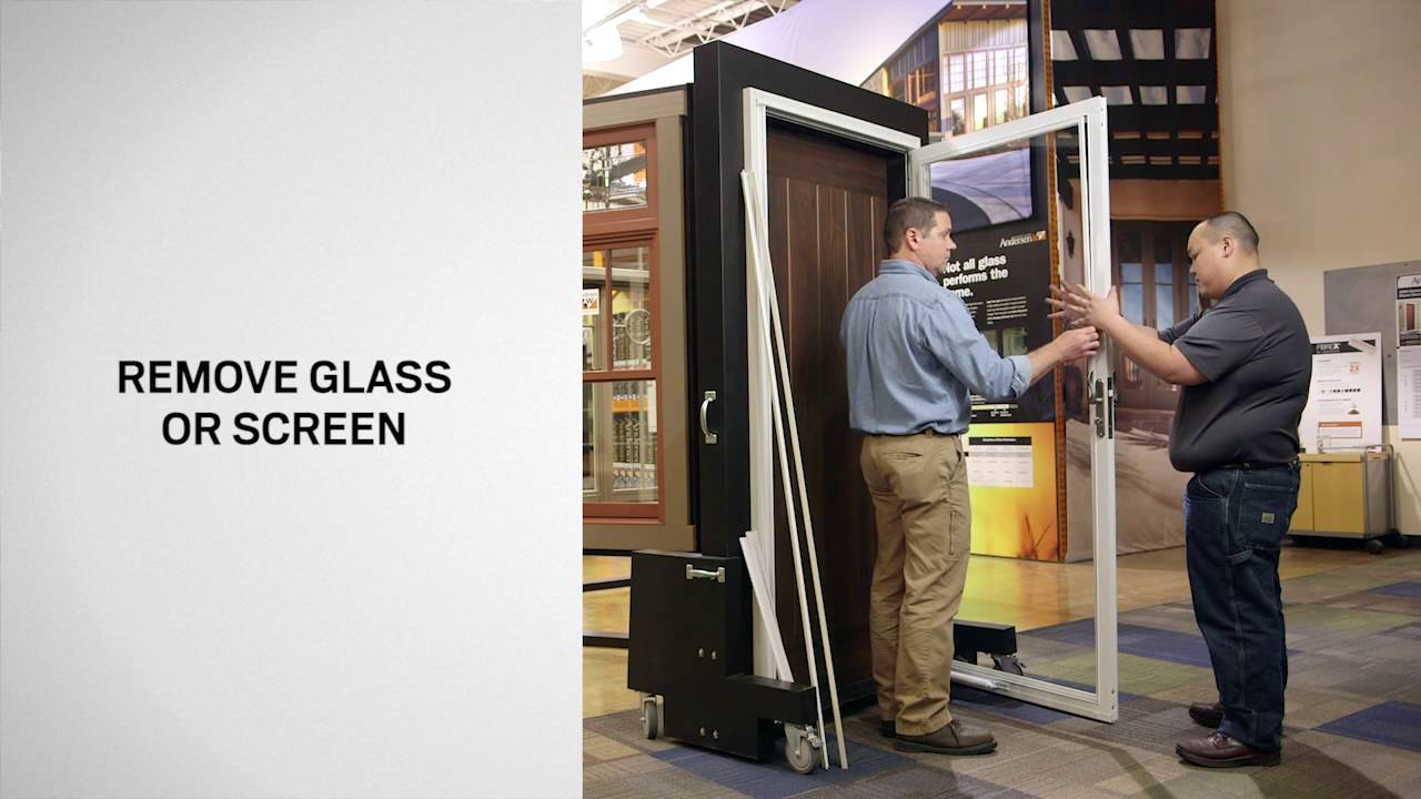 Switching Glass And Insect Screen On Andersen® Full View Storm Doors Using  A Snap In Retainer   YouTube