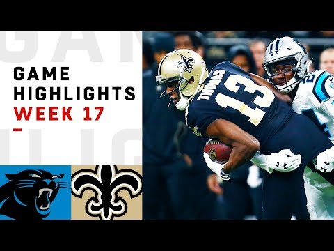 Panthers vs. Saints Week 17 Highlights | NFL 2018