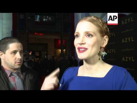 Jessica Chastain premieres 'The Zookeeper's Wife' in Poland