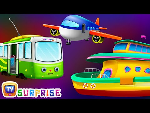 Thumbnail: Surprise Eggs Toys – Public Transport Vehicles for Kids | Aeroplane & more | ChuChuTV Egg Surprise