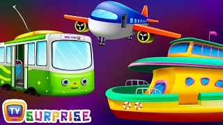 Surprise Eggs Toys - Public Transport Vehicles for Kids | Aeroplane & more | ChuChuTV Egg Surprise