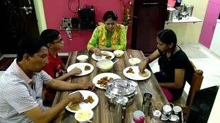 INDIAN MOM EVENING to NIGHT DINNER ROUTINE, Masala Arbi Fry, Arbi ke Kabab, Paratha, Fruits Custurd