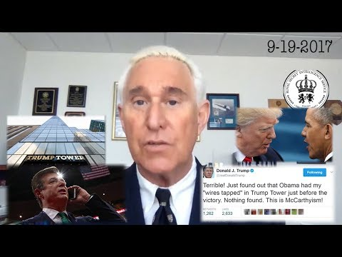 Roger Stone Discusses Wiretapping of Trump Tower, Paul Manafort, Mueller Investigation CurrentEvents