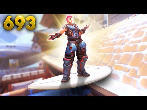Surfing The Roof!! | Overwatch Daily Moments Ep.693 (Funny and Random Moments)