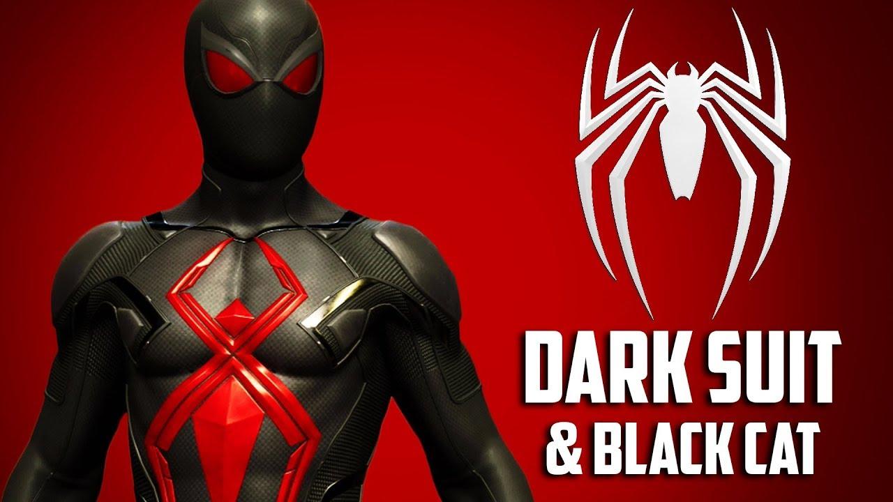 Spider Man Dark Suit Black Cat Youtube
