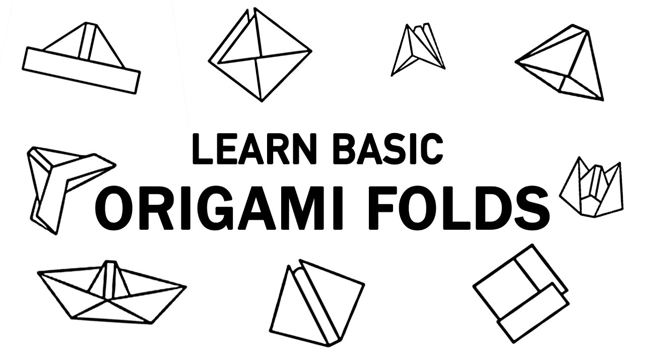 3d origami basic folds learn origami basic origami