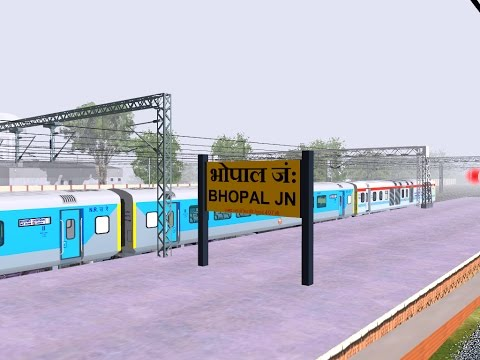 12002/New Delhi - Bhopal Habibganj Shatabdi Express From Jhansi  || IR In MSTS Open Rail