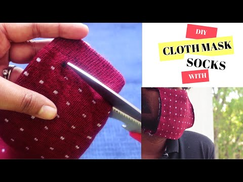 diy-cloth-mask-with-socks-|-no-sew-cloth-mask-|-how-to-make-simple-face-mask-|-divislifestyle