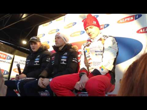Exclusive Interview of Sébastien Ogier, Ott Tanak and Jari-Matti Latvala Monte-Carlo 2017