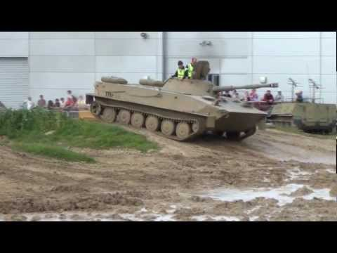 Duxford Tanks. PT-76B Amphib. light tank. 17/06/2012.