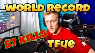 Tfue BREAKS World Record again 57 kills- FORTNITE BATTLE ROYALE