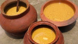 Village Food | Kasundi recipe | Grandmother recipes-59