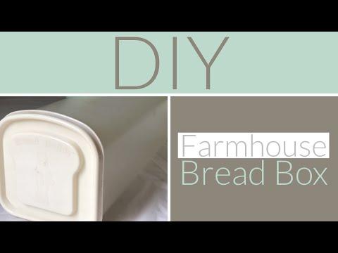 DIY Farmhouse Bread Box