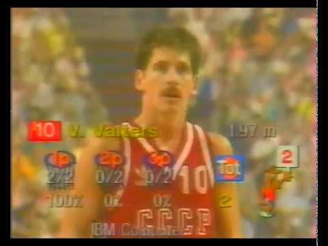 СССР - Югославия / ЧМ по баскетболу 1986 - 1/2 финала - ком. Ерёмина Нина Алексеевна