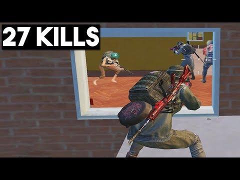 BEST FLANK EVER   27 KILLS SOLO vs SQUAD   PUBG Mobile 🐼